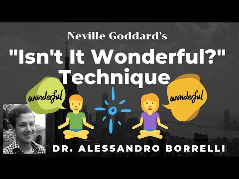 """""""Isn't It Wonderful"""" Technique  