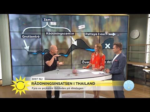 Grottdykaren om den fasanfulla vägen ut för de thailändska pojkarna   - Nyhetsmorgon (TV4)