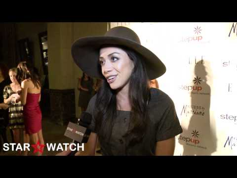 Aimee Garcia interview at Step Up Women's Network red carpet benefit