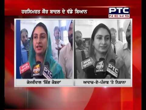 Union Minister Harsimrat Kaur Badal slams AAP & Awaaj-e-Punjab