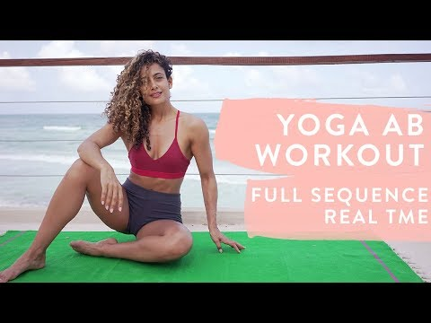 YOGA AB WORKOUT - 20 MINUTES | Real Time | Full Sequence