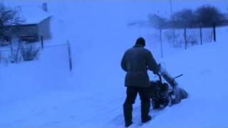 Самодельный роторный снегоуборщик