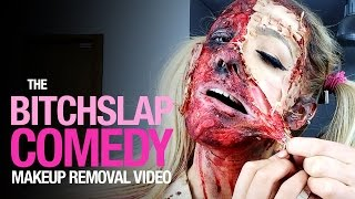 Bitch slap comedy makeup removal