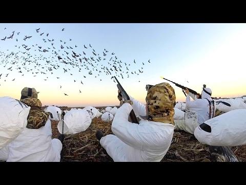 8 MAN LIMIT!!! EPIC Goose Hunting in Kansas 2017