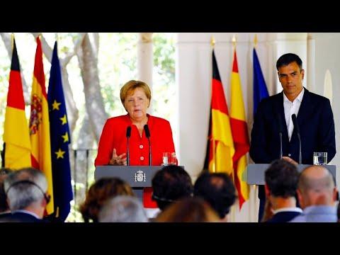 Merkel begrüßt Flüchtlings-Abkommen mit Spanien