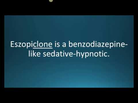 How to pronounce eszopiclone (Lunesta) (Memorizing Pharmacology Flashcard)