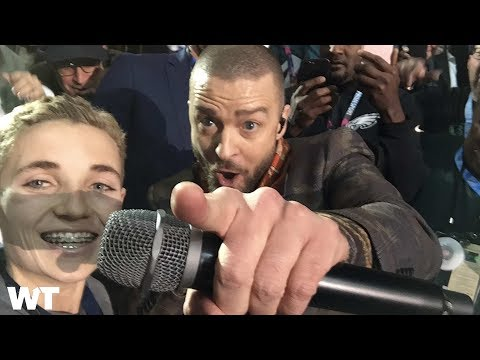 The Story Behind Viral Super Bowl 52 #SelfieKid Meme w/ Justin Timberlake? | What's Trending Now!