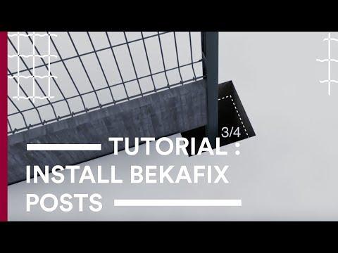 """Монтаж на оградни системи """"BETAFENCE"""" с ограден стълб """"BEKAFIX"""""""