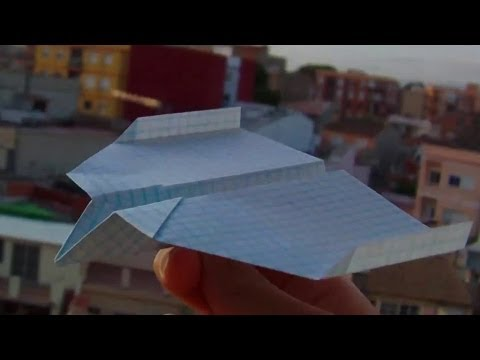 Very good origami paper airplane tutorial+test flight