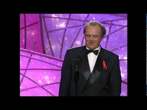 Jack Nicholson Wins Best Actor Motion Picture Musical or Comedy - Golden Globes 1998
