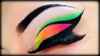 Video Neon Make Up Tutorial using Sleek MakeUp & Essence ft Kosmetik4Less MP3, 3GP, MP4, WEBM, AVI, FLV April 2018