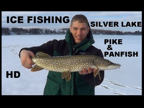 ICE FISHING SILVER LAKE PIKE & PANFISH