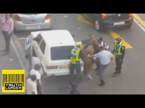 South African Police Brutalise Man Believed To Be Nigerian