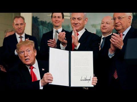 Υπέγραψε ο Τραμπ το διάταγμα για τα Υψίπεδα του Γκολάν