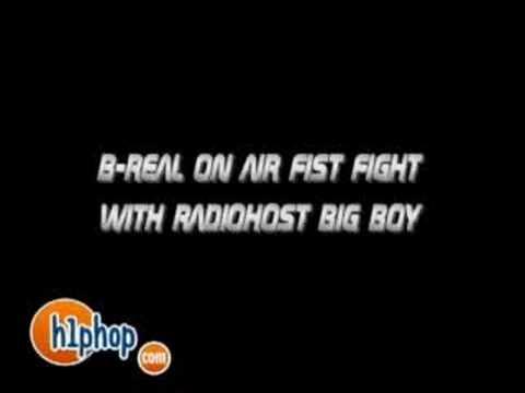 b-real on air fist fight with radio host big boy