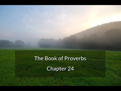 Proverbs 24 - Sayings of the Wise (pt. 3) & Further Sayings of the Wise