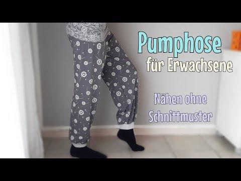 Pumphose für Erwachsene - Nähanleitung OHNE Schnittmuster - Für Anfänger - Nähtinchen