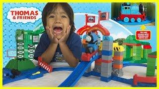 THOMAS AND FRIENDS MEGA BLOKS Cranky Brendam Docks Toy Trains Set Unbox Playtime Ryan ToysReview