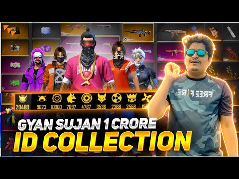 GYAN GAMING ACCOUNT COLLECTION 😱 WORLD BEST COLLECTION - Garena Free Fire