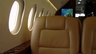 Dassault Falcon 2000LX cabin footage