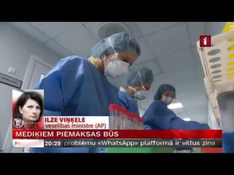 Veselības ministresIlzes Viņķeles saruna LTV par valdības pieņemto lēmumu nodrošināt piemaksas mediķiem