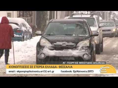 Χιονισμένο τοπίο και στη Φθιώτιδα | 03/01/2019 | ΕΡΤ