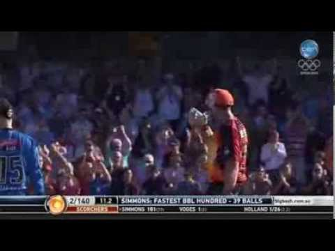 Video: Craig Simmons scores fastest BBL century