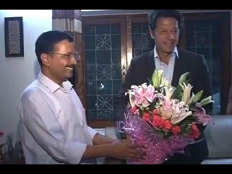 Pakistan Tehreek-e-Insaf leader Imran Khan meets Delhi CM Kejriwal