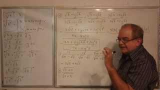 Algebra Intermedia - Lección 9 - B (racionalización De Binomios Y Trinomios Surdos De Orden Dos)