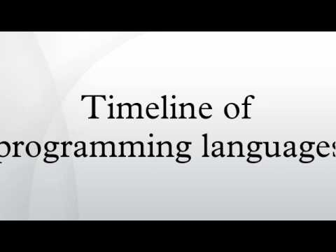 Timeline of programming languages