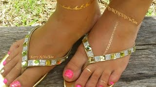 Blessings to all! I hope you enjoy this new video. This is a really easy pink and gold toenail design video great to have some flashy toenails for the summer! Be sure and comment below to let me know what else you would like to see!