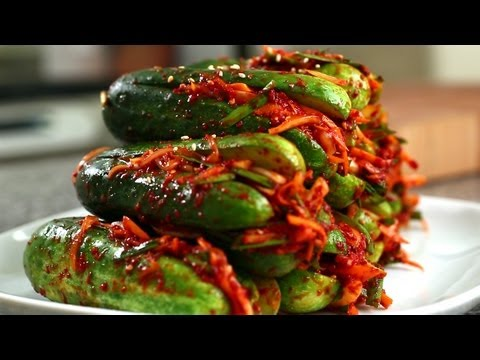 Korean Recipe: How to make a Cucumber Kimchi – Oi-sobagi – 오이소박이