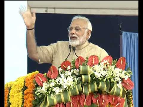 PM's speech at foundation stone laying of Barrage over Narmada river & flag off Antyodaya Exp