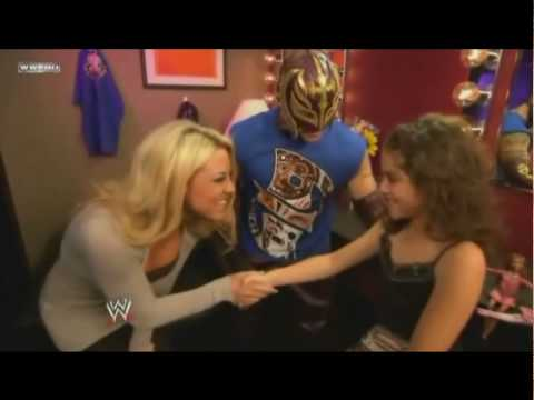 Rey Mysterio's Daughter blessing him before his fight.