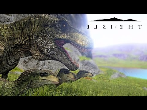 The Isle - REALISM REX PROGRESSION, PARENTS FIGHT GIGA, FAMILY HUNTING & SUB ADULT ( Gameplay )