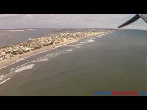 Long Beach Island, NJ  aerial footage following Hurricane Sandy