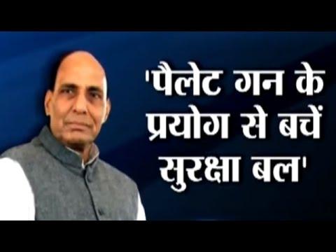 Kashmir: Home Minister Rajnath Singh tells security forces to avoid using Pellet Guns