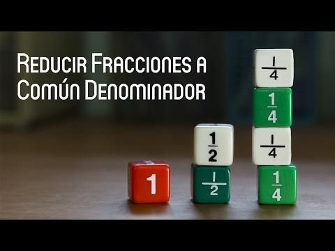 Reducir fracciones a común denominador – AyudaEstudio.com