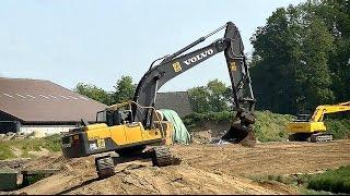 Heede Germany  city images : Deichbau in Heede: Volvo EC220 DL / Hydraulic excavator Volvo EC220 DL