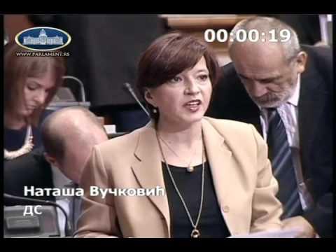Наташа Вучковић у Скупштини о амандманима на Предлог закона о озакоњењу објеката