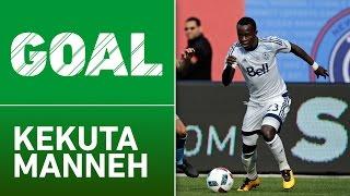 GOAL: Kekuta Manneh sends defender flying, scores a second goal by Major League Soccer