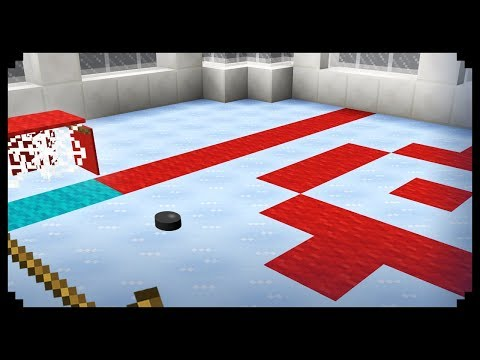 ✔ Minecraft: How to make an Ice Hockey Rink