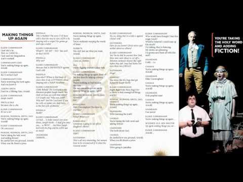 Book of Mormon - Making Things Up - Lyrics