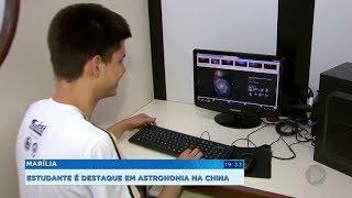 Estudante de Marília se destaca em olimpíada de astronomia na China