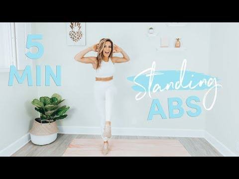 5 Minute Standing Abs Workout  Belly Fat Burner!