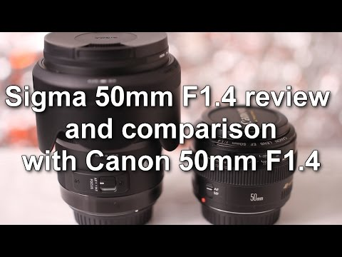 Sigma 50mm 1.4 Art lens vs Canon 50mm 1.4 with image samples
