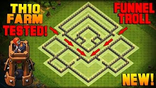 Video Clash of Clans | BEST TH10 Farming Base w/ NEW BOMB TOWER | Town Hall 10 Hybrid Base TESTED! [2016] MP3, 3GP, MP4, WEBM, AVI, FLV Juni 2017