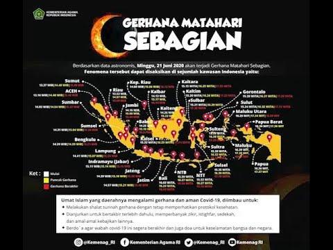 31 Provinsi di Wilayah Indonesia Dapat Mengamati Gerhana Matahari Sebagian