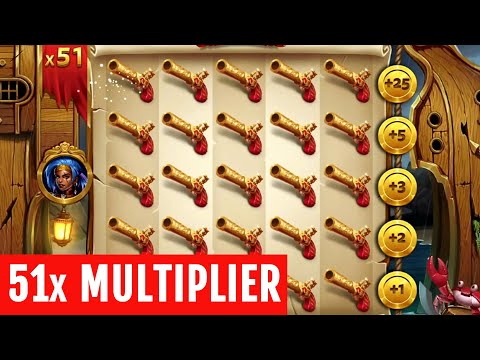 👑 Pirates 2 Mutiny Big Win 51x Multiplier 💰 A Slot By Yggdrasil.