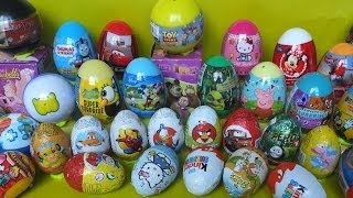 40 surprise eggs Kinder Surprise Disney Toy Story Shrek Peppa Pig Thomas Mickey Mouse